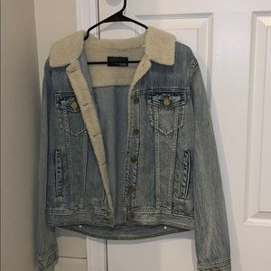 Fur lined jean jacket!